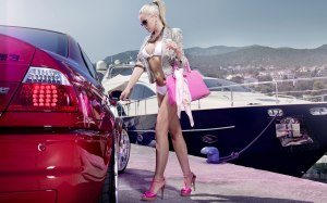 car-woman-blond-yacht-seaside-model-celebrity-sexy