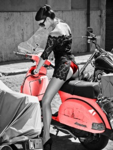 red vespa black lace escort marbella