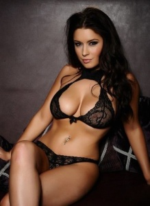 black lace toned escort marbella