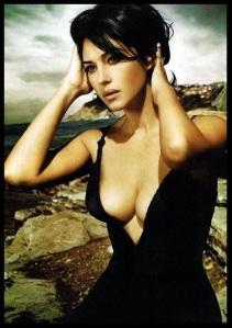 Monica bellucci boobs and beach